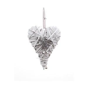 Závěsná dekorace ve tvaru srdce Ego Dekor Snowflake, výška28cm