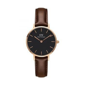 Ceas de damă Daniel Wellington Petite Bristol, ⌀ 28 mm, negru-roz auriu imagine