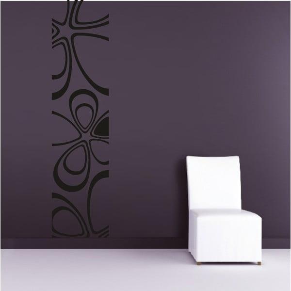 Samolepka na stěnu Floral Pruh, černá