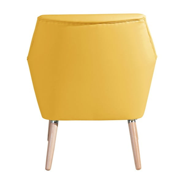 Žluté koženkové křeslo Max Winzer Alegro