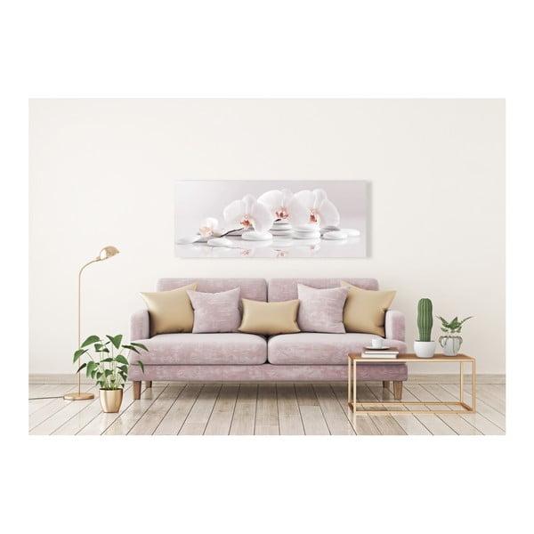 Obraz Styler Glasspik Spa & Zen White Stones, 50 x 125 cm