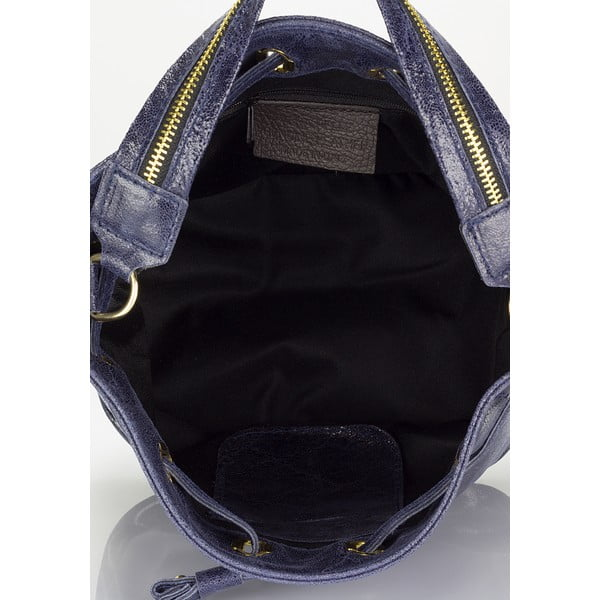 Modrá kožená kabelka Lisa Minardi Prisha