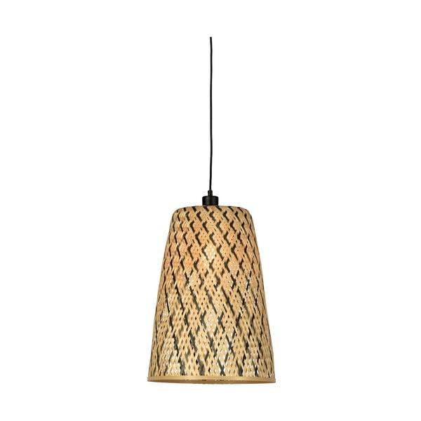 Závesné bambusové svietidlo Good&Mojo Kalimantan, ⌀ 34 cm