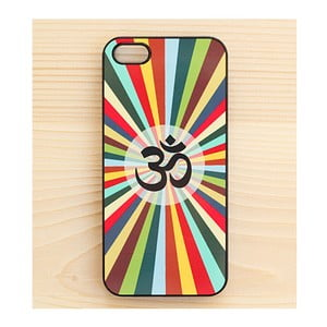 Obal na iPhone 4/4S, Colourful Rays in Black