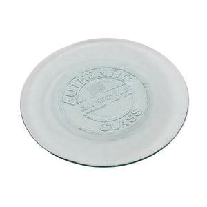 Skleněný talíř Antic Line Authentic Vintage, 28 cm