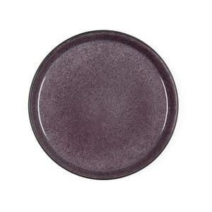 Švestkově fialový kameninový dezertní talíř Bitz Mensa, průměr 21 cm