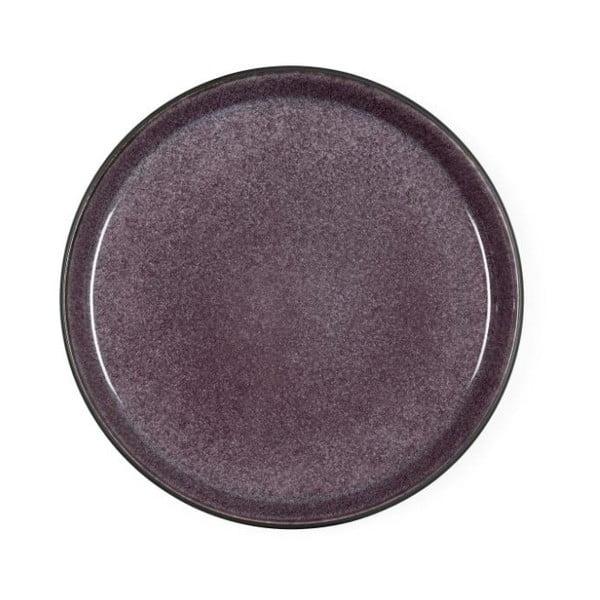 Slivkovofialový kameninový dezertný tanier Bitz Mensa, priemer 21 cm