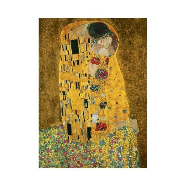 Čtyřdílná fototapeta The Kiss (Gustav Klimt), 183 x 254 cm