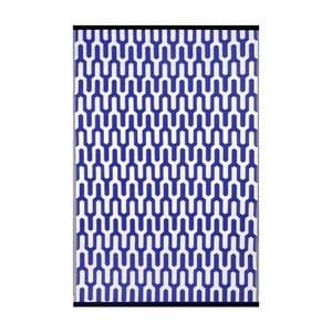 Modrobílý oboustranný venkovní koberec Green Decore Jubilee, 120 x 180 cm