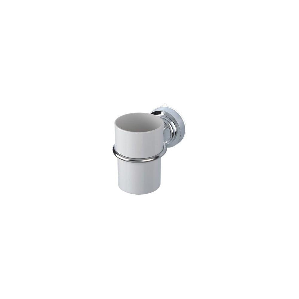 Kelímek na zubní kartáčky s ocelovým držátkem bez nutnosti vrtání ZOSO Cup