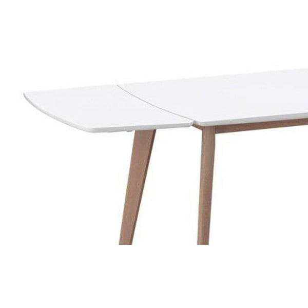 Bílá přídavná deska k jídelnímu stolu Rowico Griffin, 90x45cm