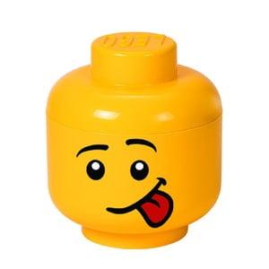 Žlutý úložný box ve tvaru hlavy LEGO® Silly S