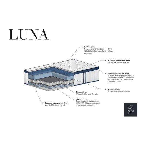 Matrace s paměťovou pěnou Pure Night Luna, 140x200 cm