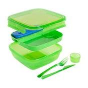 Zelený obědový box s příborem a chladičem Snips Lunch, 1,5l