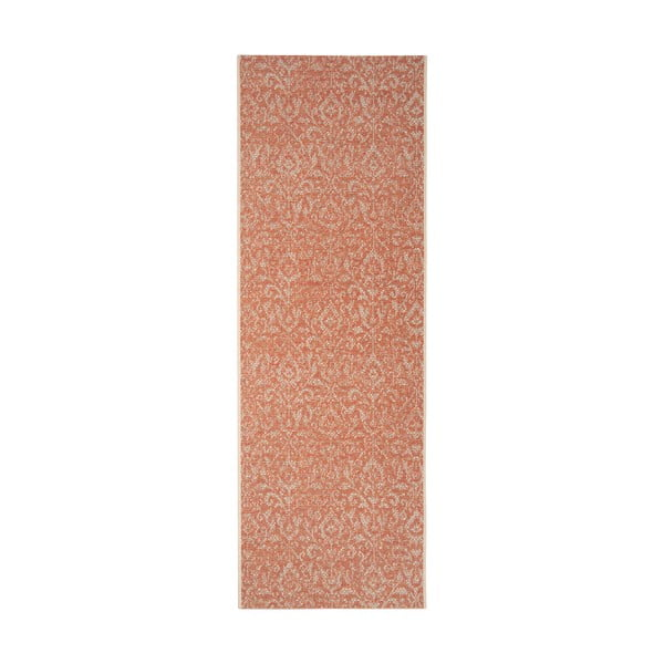 Covor potrivit pentru exterior Bougari Hatta, 70 x 200 cm, portocaliu - bej