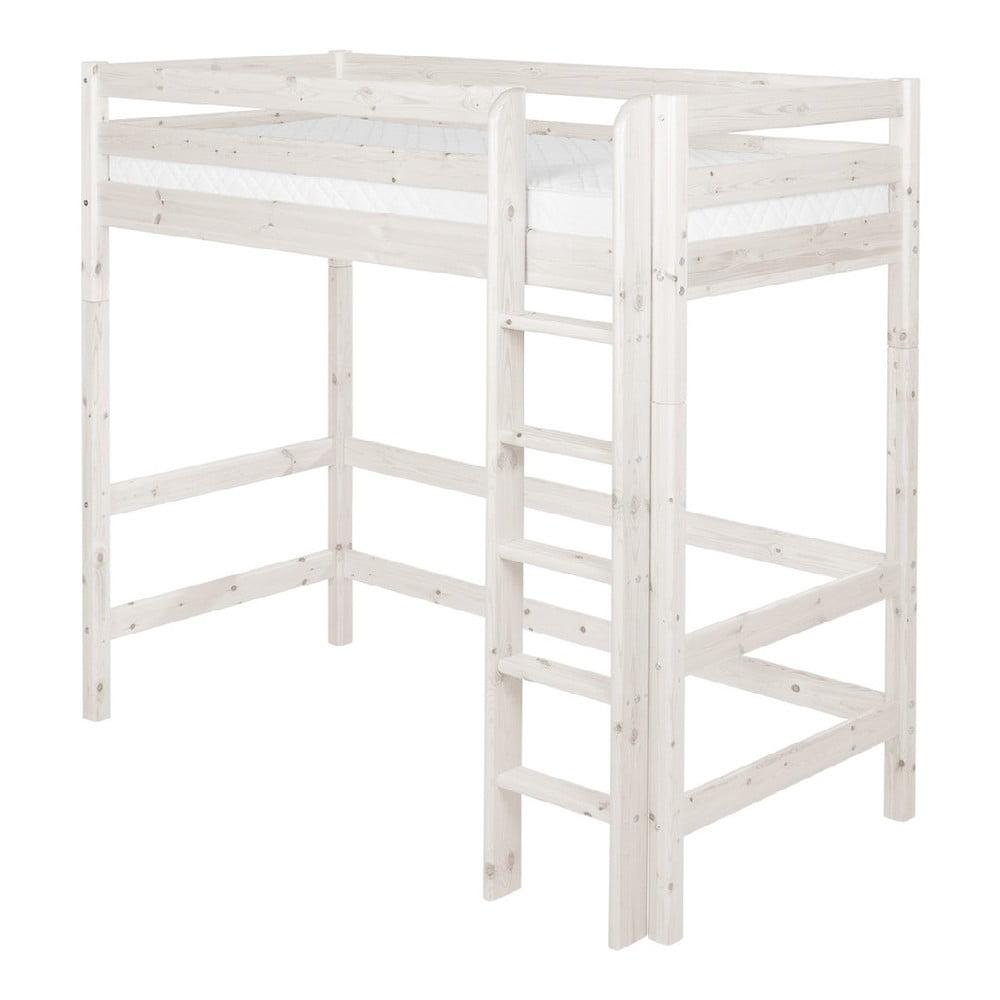 Produktové foto Bílá dětská vysoká postel z borovicového dřeva Flexa Classic, 90x200cm