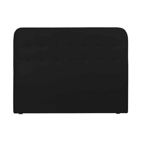 Černé čelo postele HARPER MAISON Lana, 200 x 120 cm