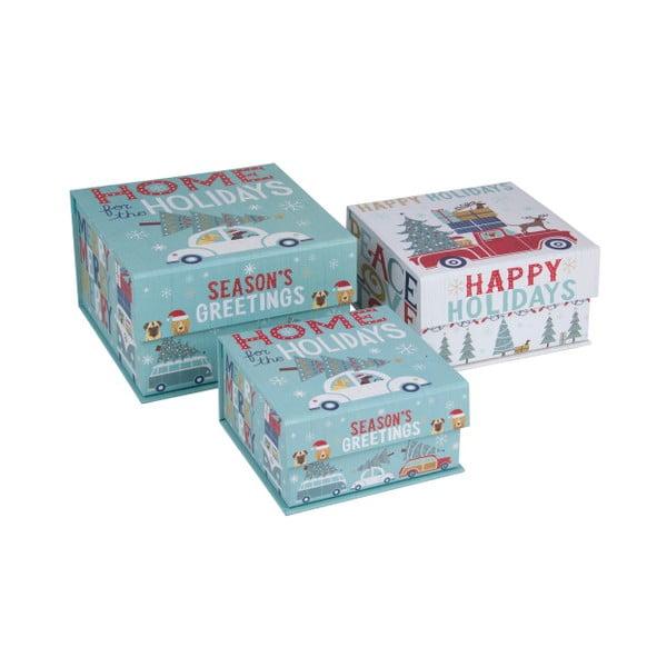 Sada 3 ks malých boxů Tri-Coastal Happy Holidays