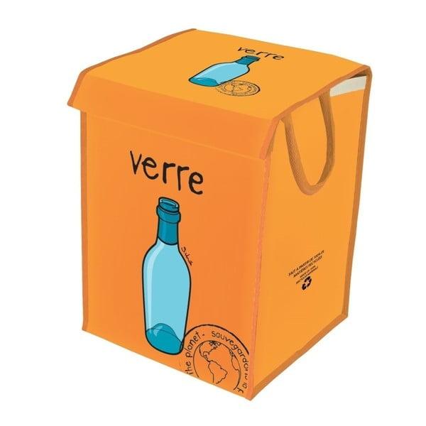 Oranžový koš na recyklování skla Incidence Rubbish