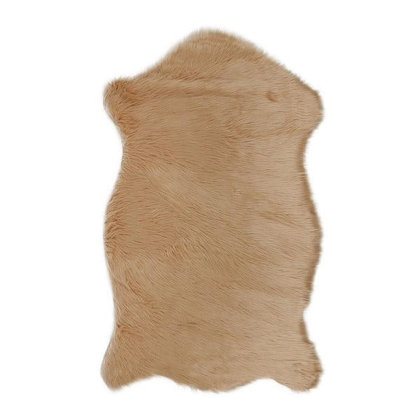 Hnědý koberec z umělé kožešiny Dione, 100x75cm
