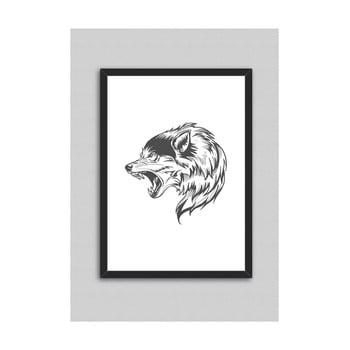 Poster cu ramă North Carolina Scandinavian Home Decors Wolf
