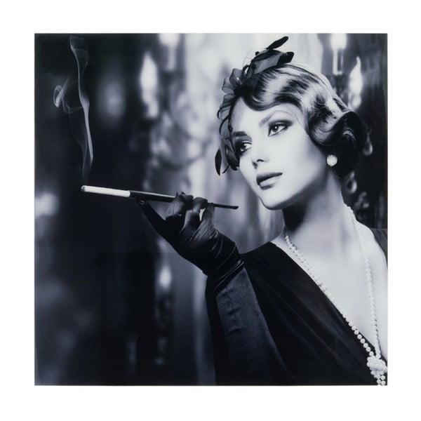 Nástěnná dekorace Lady Smoking, 100x100 cm