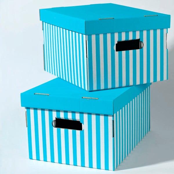 Set 2 cutii pentru depozitare Compactor Aqua, albastru