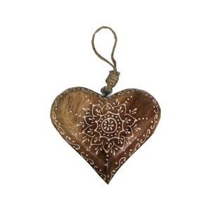 Závěsná dekorace ve tvaru srdce Antic Line heart Ornament