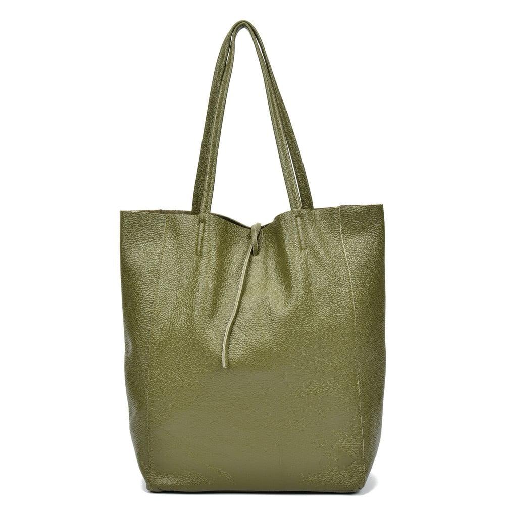 Zelená kožená taška přes rameno Sofia Cardoni Easy