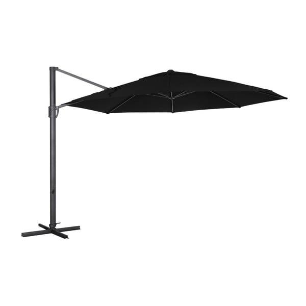 Černý slunečník Brafab Fiesole, ∅350cm