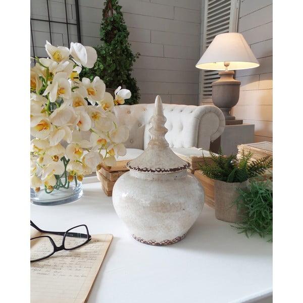 Dóza Ceramic White Antique