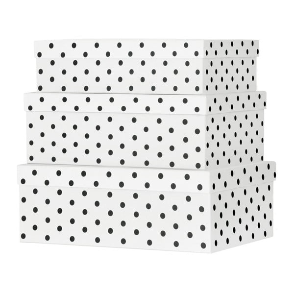 Set 3 cutii carton pentru depozitare Miss Étoile Eyes & Dots