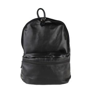 Černý kožený batoh Chicca Borse Gio