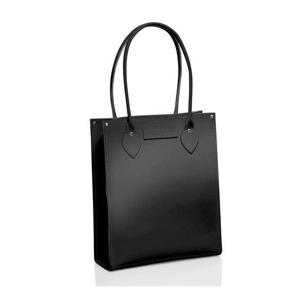 Kožená taška Tote, černá