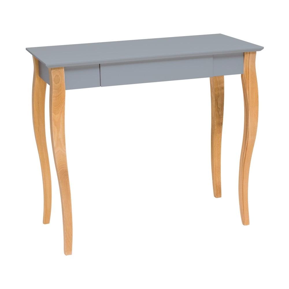 Tmavě šedý psací stůl Ragaba Lillo, délka 85 cm