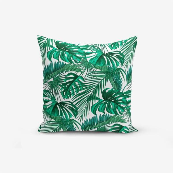 Mint Green Kavanice pamutkeverék párnahuzat, 45 x 45 cm - Minimalist Cushion Covers