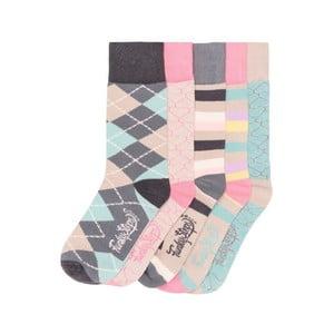 Sada 5 párů barevných ponožek Funky Steps Good Morning, vel. 35-39