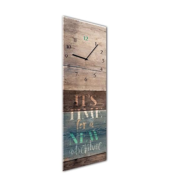Zegar ścienny Styler Glassclock Adventure, 20x60 cm