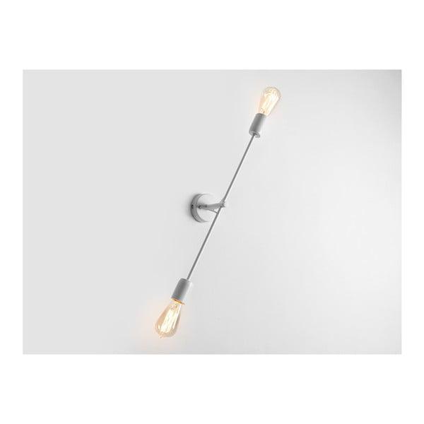 Bílá nástěnná lampa pro 2 žárovky Custom Form Twigo, šířka60cm