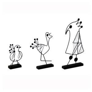 Dekorativní objekty Oiseau, 3 ks