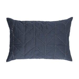 Modrý prošívaný povlak na polštář A Simple Mess Molly, 60x40cm