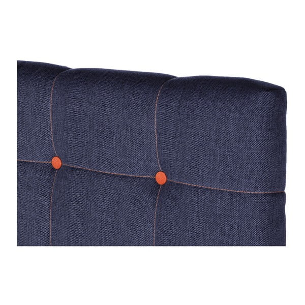 Tmavě modrá postel s matrací Stella Cadente Venus Saches, 140x200 cm
