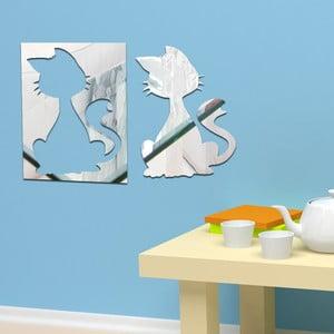 Dekorativní zrcadlo Dvě kočky