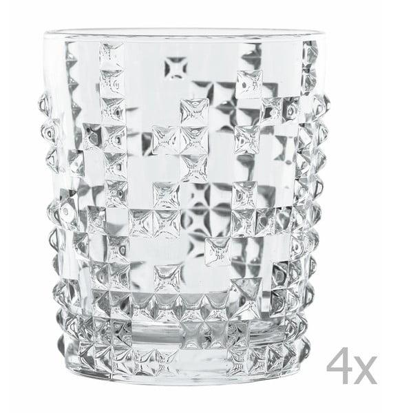Sada 4 sklenic na wkiskey z křišťálového skla Nachtmann Punk, 348ml