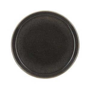Tmavě šedý kameninový mělký talíř Bitz Mensa, průměr 27 cm