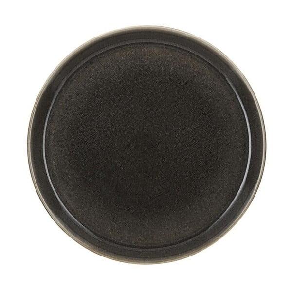 Tmavosivý kameninový plytký tanier Bitz Mensa, priemer 27 cm