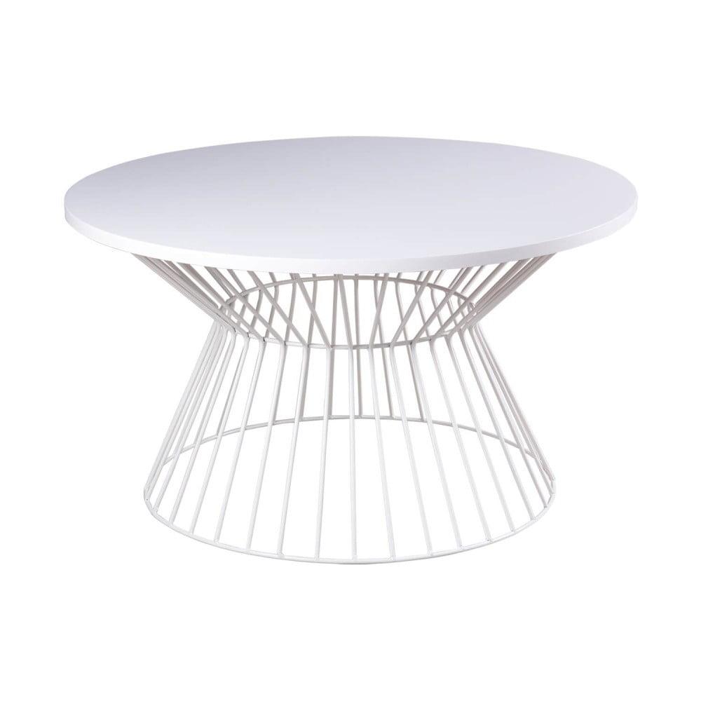 Bílý konferenční stolek sømcasa Hugo