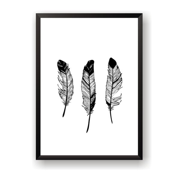 Poster Nord & Co Feathers, 30 x 40 cm
