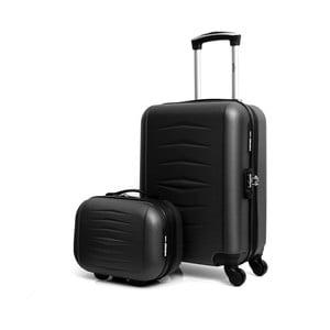 Set černého cestovního kufru na kolečkách a kufříku INFINITIF