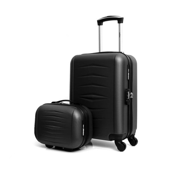 Sada 2 čiernych cestovných kufrov na kolieskach Infinitif Oviedo